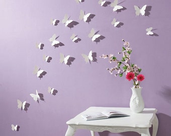 D Wall Decals Etsy - Butterfly wall decals 3d