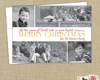 Religious Christmas Card Christian Christmas Cards Gold