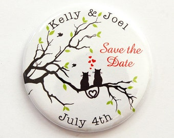 Wedding Save the Date, Save the Date, Engagement, Save the Date Magnet, Magnet, Wedding Announcement, Custom, Personalized, Cats (3773)