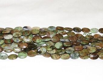 "Snakeskin Jasper 13x18mm Flat Oval Gemstone Beads - 15.5"" Strand"