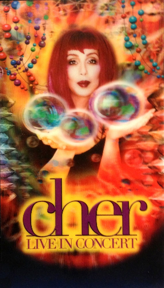 Cher Live In Concert 1990s Vhs With 3d 3 D Cover Video