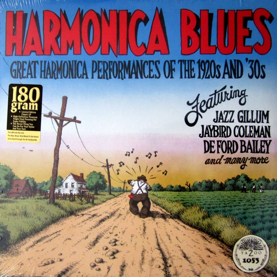 Robert R Crumb Cover Art Harmonica Blues Of The 1920s And