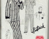 vintage Butterick 1373 sewing pattern // Men's Pajamas in Either of Two Styles