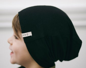 Black Slouch Beanie | Infant, Toddler, or Youth Slouchy Beanie | Slouchy Hat