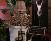 Sleep like the Dead Brew Gift teacup and teabags SET: sleep,  night time tea, organic, herbs, flowers, apothecary, ritual, witchery