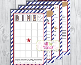 Baseball Baby Shower Games-Sports Baby Shower Games-INSTANT DOWNLOAD