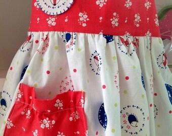 Little Girls Prairie Apron, Apron, Play Apron, Dress Up Clothes
