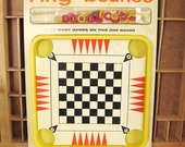 Ring Bounce Vintage Tabletop Checkers Board Game by Smethport Specialty Co. NEW in package!