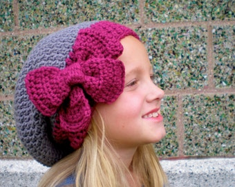 PATTERN:  3 in 1 hat pattern, Kids' Slouch Hat, slouchy beanie, easy crochet PDF, InStaNT DowNLoaD, Permission to Sell