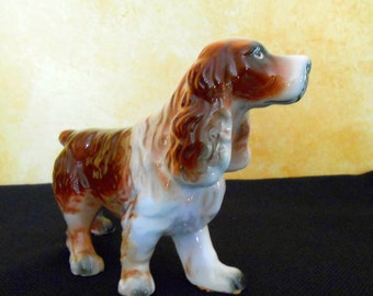 Vintage Collectible Dog Lovers Porcelain Coker Spaniel  Dog Figurine
