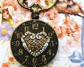 "Steampunk Skeleton Key Necklace ""KEY to MY HEART"" ooak Vintage Victorian Valentine"