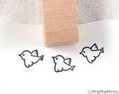Fly bird 02 Small Rubber Stamp