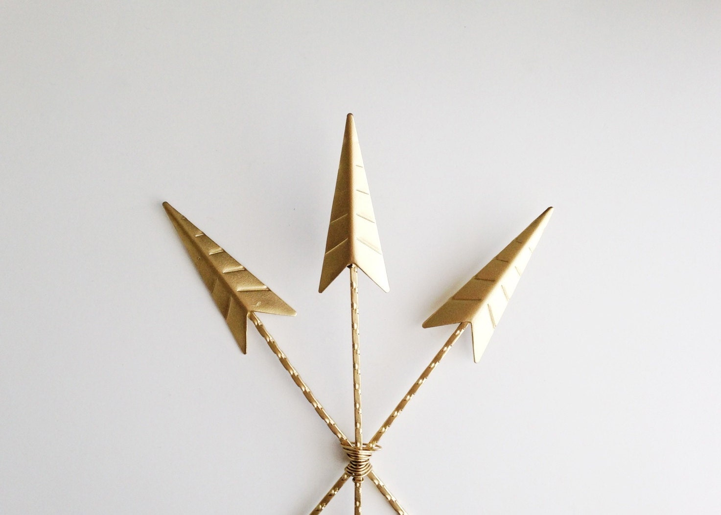 Arrows wall decor gold arrow art painted arrows by for Gold wall art
