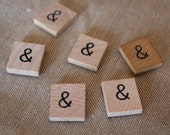 "Scrabble Tile Ampersand ""&"""
