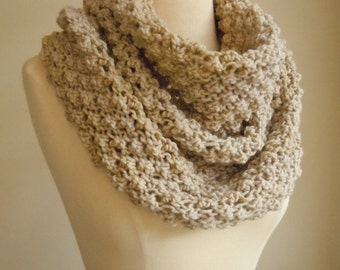 Merino wool high cowl - Ivory