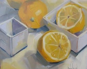 Lemon Yellow, Original Oil Painting