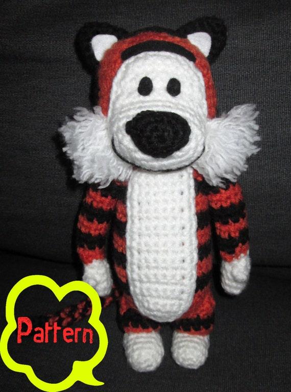 PATTERN: Crochet Calvin & Hobbes Hobbes Amigurumi