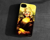 IPhone 4/4S/5 Case,Marilyn monroe,mona lisa,Soft TPU, Gel Silicone, Cover, iPhone case,vintage,retro,art