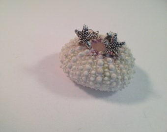 Sterling Silver Tiny Starfish Earrings