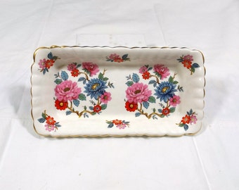 CHINACRAFT Floral Dresser Trinket Pin Tray