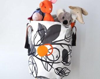 XXLarge Round Laundry Hamper, Laundry Basket, Toy Storage, Nursery Fabric  Basket, Storage