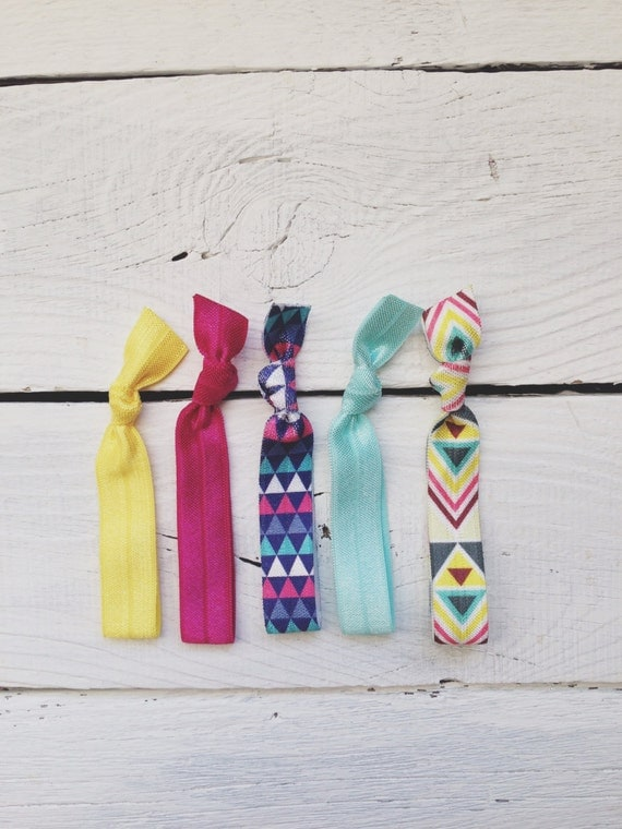 Hair Tie Ponytail Holders Bright Festival Summer Stretchy