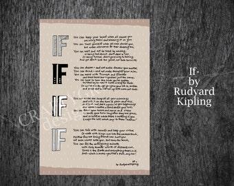 If Rudyard Kipling Poem Digital Printable If Poem Print