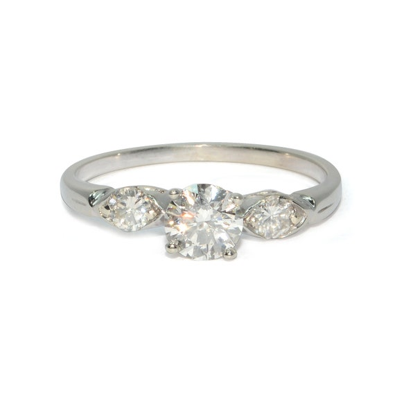 Vintage 1960s Diamond Engagement Ring in 14k by SITFineJewelry