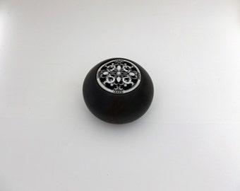 Wood Poplar Bowl Fleur de Lis Box