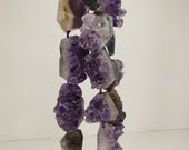 Amethyst Druzy Crystal Cluster Geode Chunk Beads 20mm  -  40mm Mix Sizes