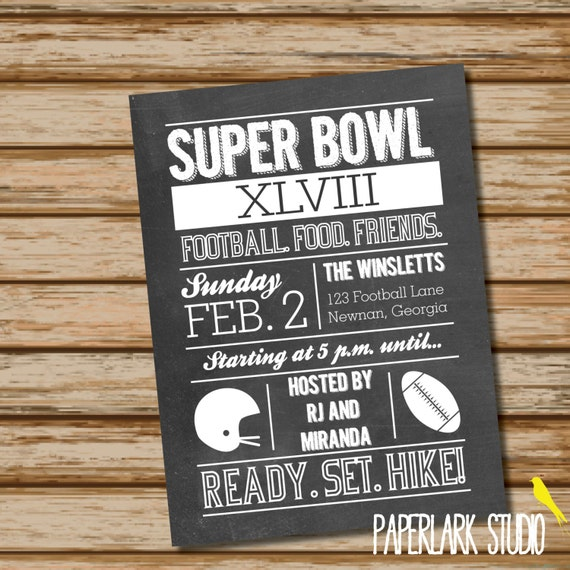 Items Similar To Super Bowl Party Invitation /// DIGITAL FILE On Etsy