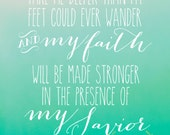 Take Me Deeper Than My Feet Could Ever Wander--Oceans by Hillsong