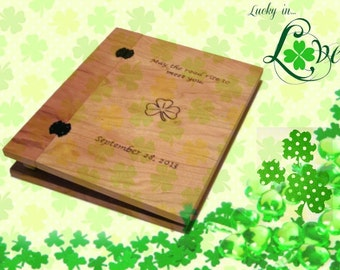 Custom Anniversary or Wedding Album - Scrapbook Woodburnt With Your Design