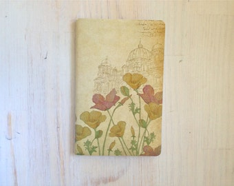 Large Notebook: Flowers, Rustic, Wedding, Favor, Notebook, Unlined, Journal, For Her, For Him, Gift, Unique, Blank Journal, Shabby, L8-039