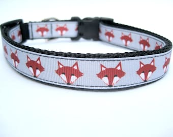 "What Does The Fox Say Dog Collar. 3/4"" wide, available in S, M, L"
