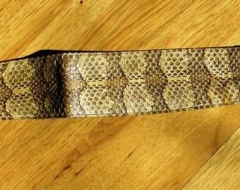 Vintage Woman's Rattlesnake Skin Belt - circa 1950 - from DustyMillerAntiques