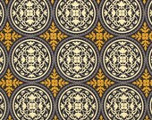 "Yellow Pillow Cover-Mustard Pillow-Medallion Pillow .Aviary 2 Scrollwork..16"",17"",18"",20"" 24"" 26"", Lumbar Pillow or Euro Sham"