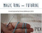PATTERN PDF Magic ring mini tutorial. crochet instructions. pattern only.