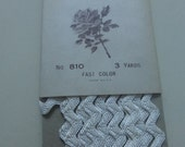 Antique White Rayon Rick Rack Trim  3 Yards  NOS