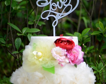 Wedding Cake Topper Monogram Mr and Mrs cake Topper Design Personalized with YOUR Last Name, Love Acrylic cake topper 022