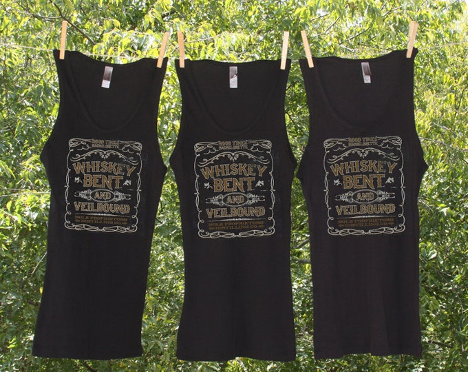 Sets -Whiskey Bent and Veilbound Good Times Bachelorette Party Tanks or Shirts-TW