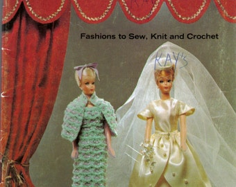 Coats and Clark's Book 173 The Doll Book, Barbie and Baby Doll Clothing Patterns Knit, Crochet, Sew