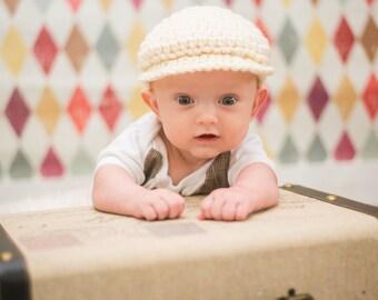Newborn Baby Boy Hat Cream Irish Baby Hat Donegal Hat Ireland Donegal Cap Irish Hat Newborn Photography Prop Newborn Photo Prop Newsboy Cap