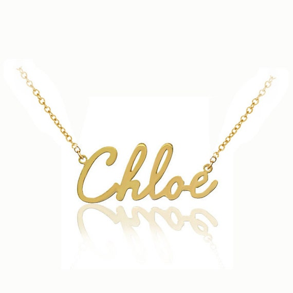 Handmade Personalized Name Necklace (Order Any Name) - 10K or 14K Solid Gold, 14K Goldfilled or Silver