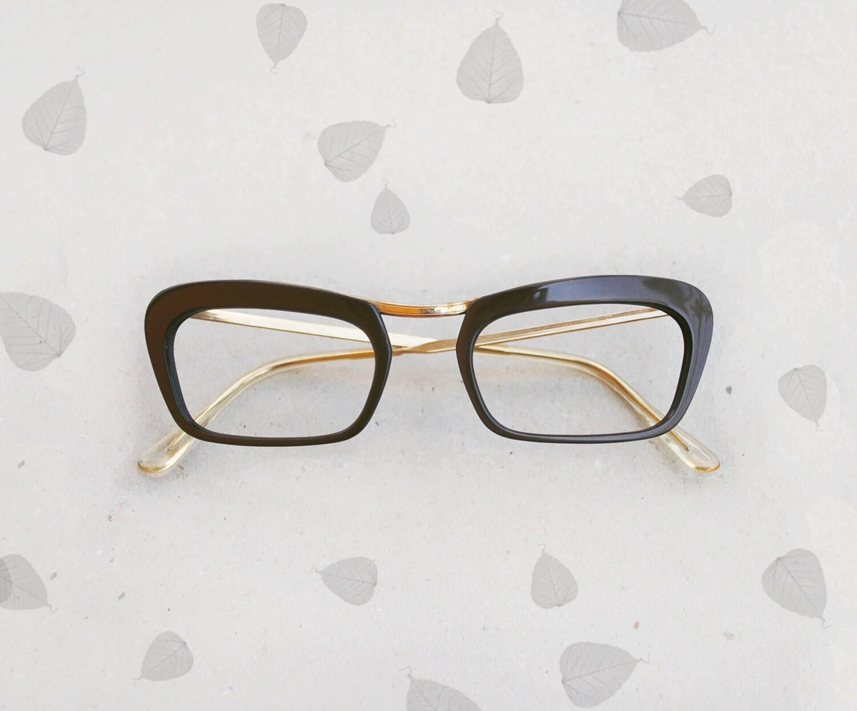 Glasses Frame In French : 50s Cat-Eye Frames / Vintage french deadstock glasses 1950s