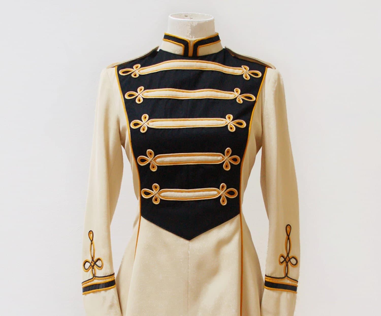 Vintage 50s majorette Dress / Handmade military marching band