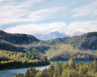 Oil Painting - Personalized Landscape Art - Custom Portrait on Canvas from Photo