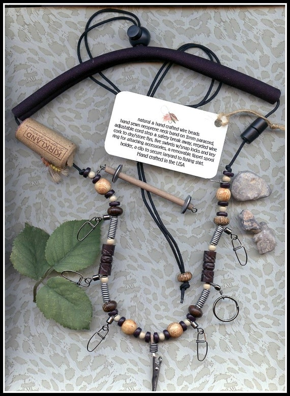 Fly fishing lanyard with tippet holder wood by for Fly fishing tippet