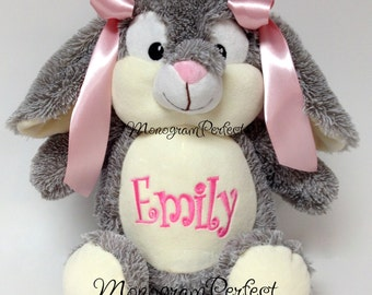 Personalized, Monogrammed, Cuddly Soft Bunny Rabbit