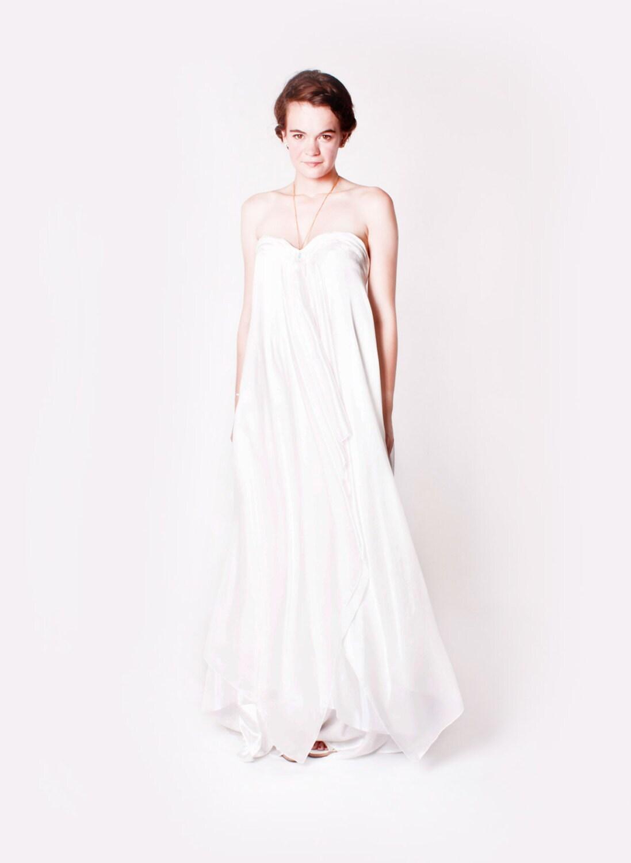 Boho Wedding Dress Nottingham : Silk boho wedding dress uk size